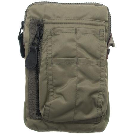 MAHARISHI LONG MINI FLIGHT NYLON TWILL 3M REFLECTIVE MA BAG - MAHA OLIVE
