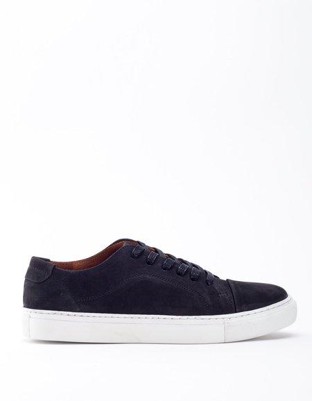 Garment Project Classic Lace Sneaker- Black Nubuck