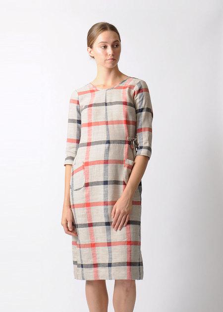 Modaspia Plaid Dress with Ties