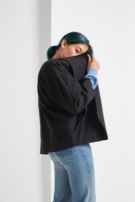 Black Crane Cotton Jacket - Black