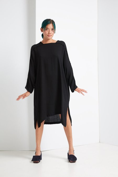 Black Crane Dome Dress - Black