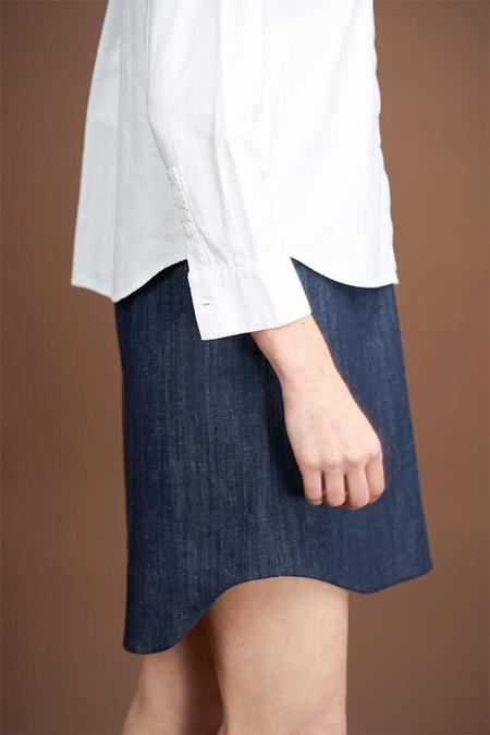 Elise Ballegeer Denim Scallop Skirt
