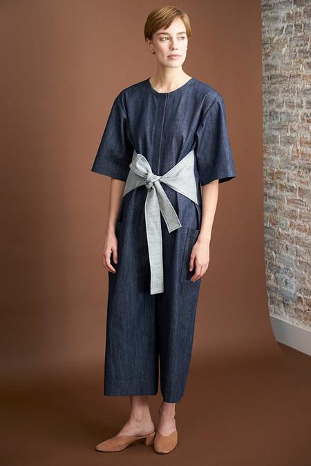 Elise Ballegeer Denim Tied Jumpsuit