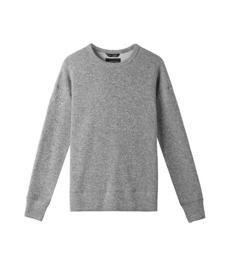 Wings + Horns Alpine Crewneck - Marled Grey