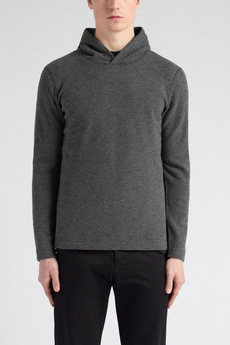 Wings + Horns Felted Wool Pullover Hood - Charcoal