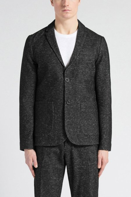 Wings + Horns Knit Wool Blazer - Marled Black