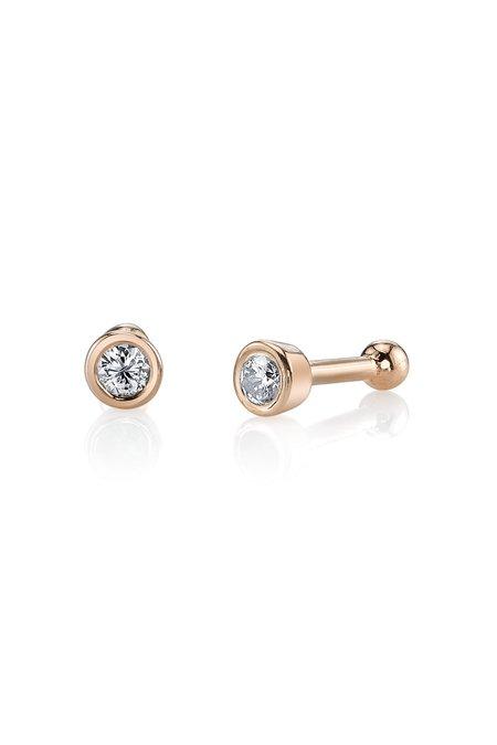 Gabriela Artigas 14k Rose Gold Bezel Studs Earrings