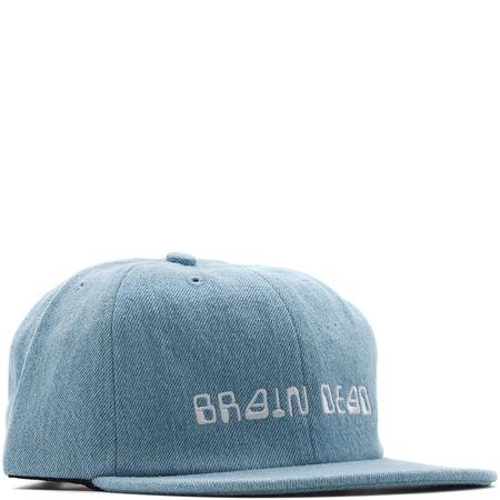 BRAIN DEAD ALIEN FONT CAP WASHED / DENIM