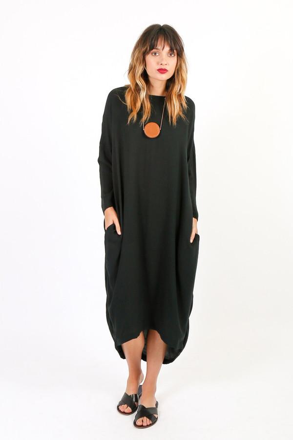Black Crane Cocoon Dress
