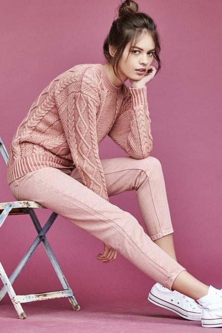 Callahan Enzyme Cableknit Boyfriend Sweater
