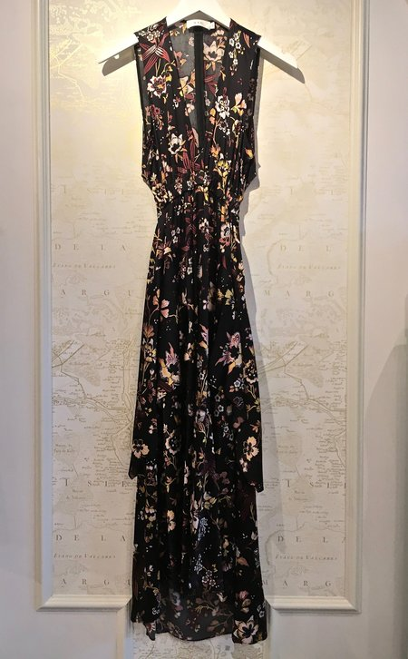 A.L.C. 'Verena' Silk Print Maxi Dress with Cutout