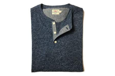 Faherty Brand Heather Henley Navy