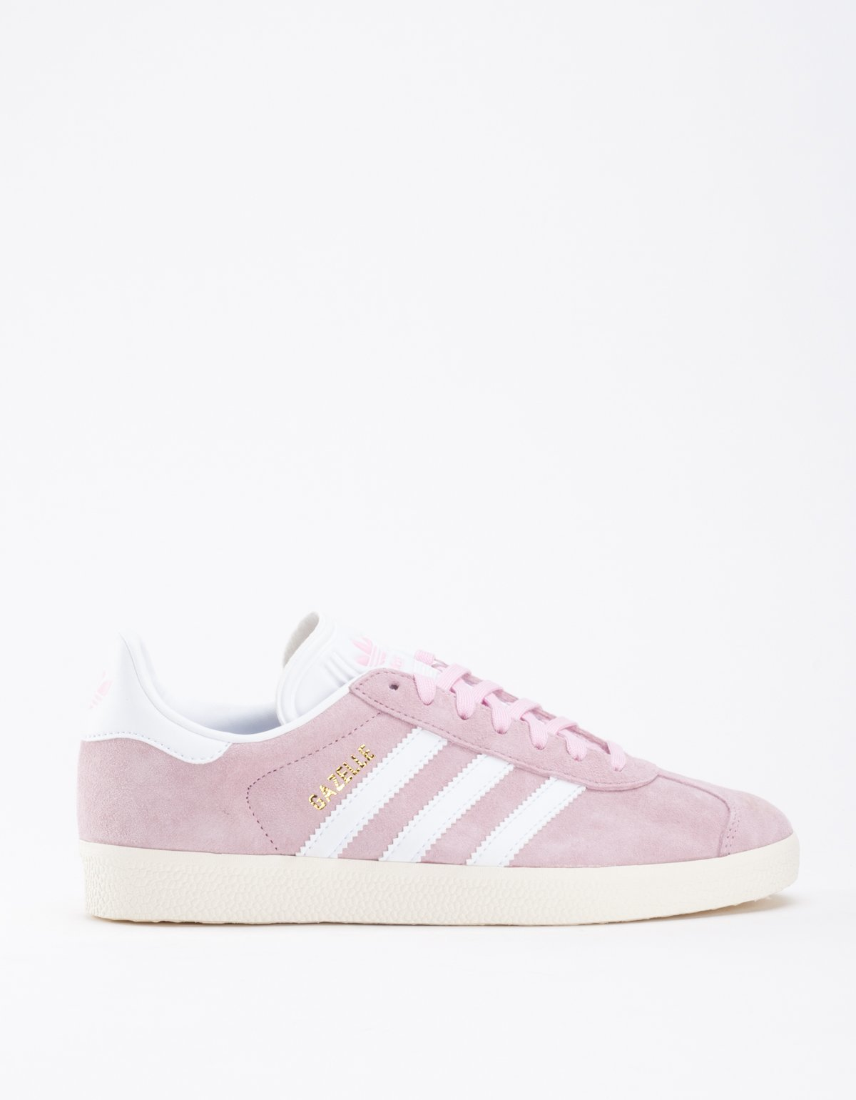 womens adidas gazelle pink and white