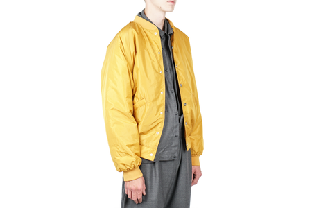 Stampd Script Varsity Jacket - Yellow