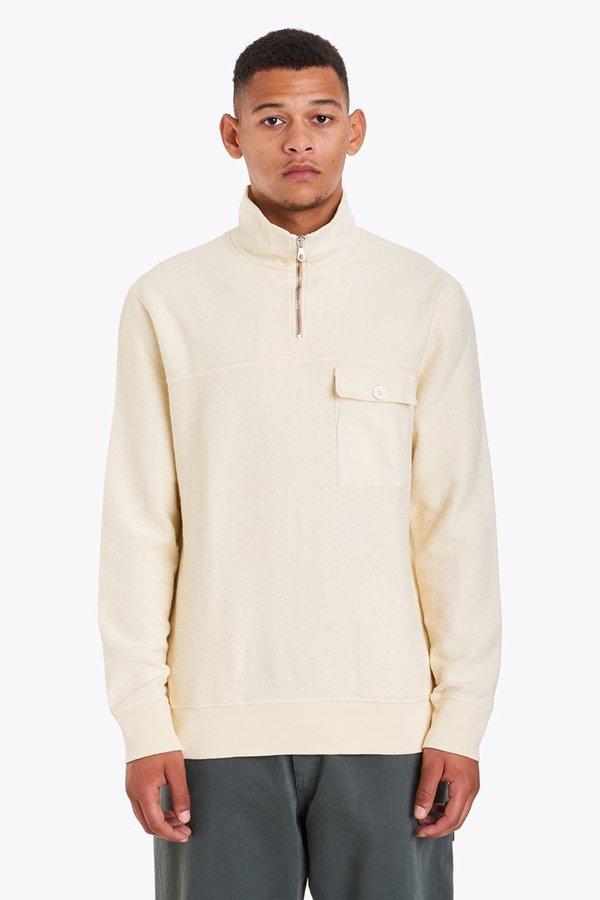 Tres Bien Half Zip Sweatshirt - Off White