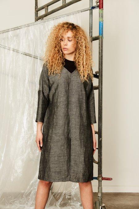 Devlyn Van Loon Long Sleeve Split Dress