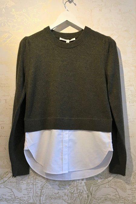 Veronica Beard 'Jensen' Puff Sleeve Sweater with Blouse Bottom