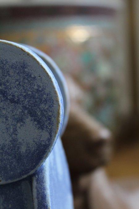 Bari Ziperstein Circle Top Vase - Matte Blue