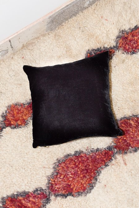 Heidi Merrick Velvet Throw Pillow - Black