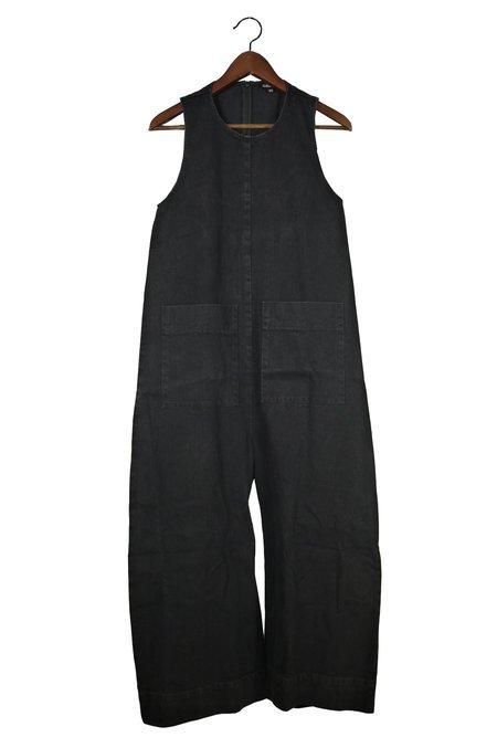 Ilana Kohn Harry Jumpsuit - Black Denim, Cotton