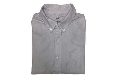 Save Khaki Button Down Collar Oxford - Thin Stripe