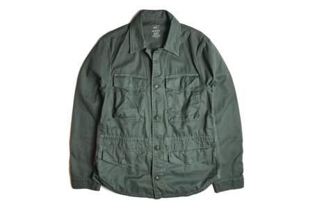 Save Khaki Fatigue Shirt Jacket - Dark Park