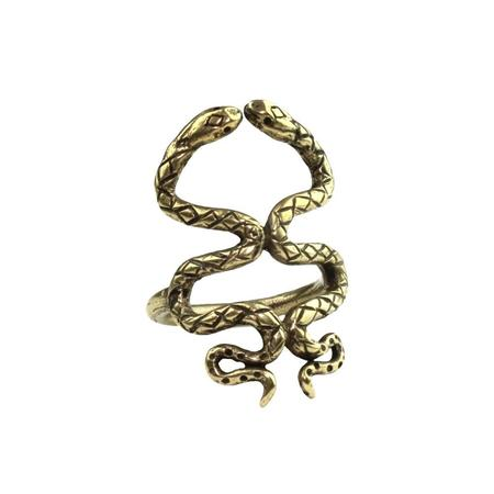 Amanda Hunt Brass Kissing Snakes Ring