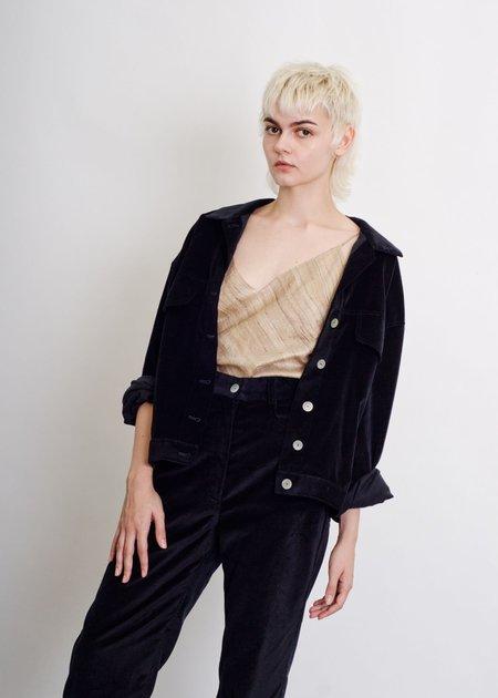 Penny Sage Decloux Jacket - Black Velvet