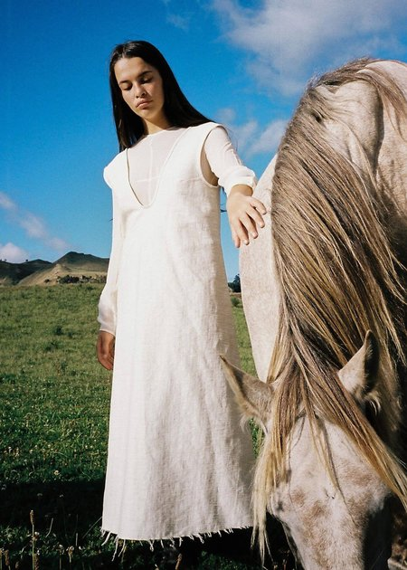 Penny Sage Lyrical Dress - Ivory