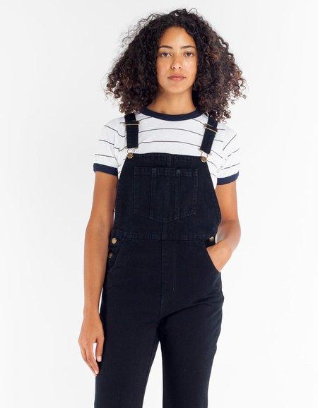 Rollas Jasmine Overall Overdyed Black