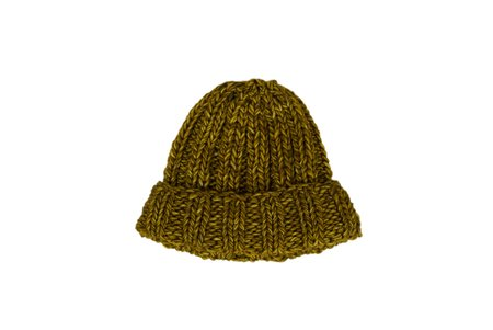 Clyde Fold Knit Hat in Burnt Yellow Melange