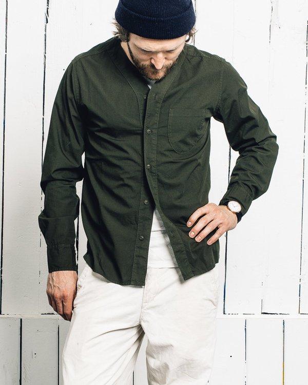 Universal Works V Neck Long Sleeve Shirt