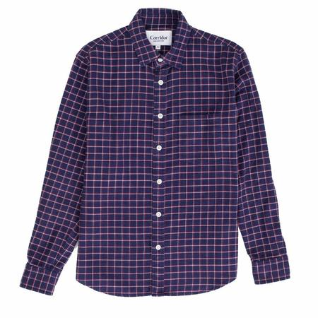 Corridor Blue Check Wool Blend