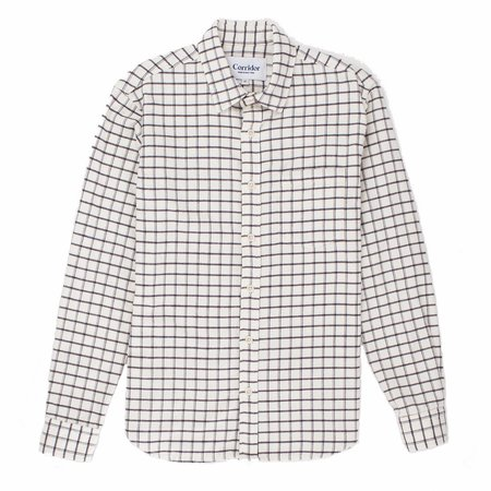 Corridor White Check Wool Blend