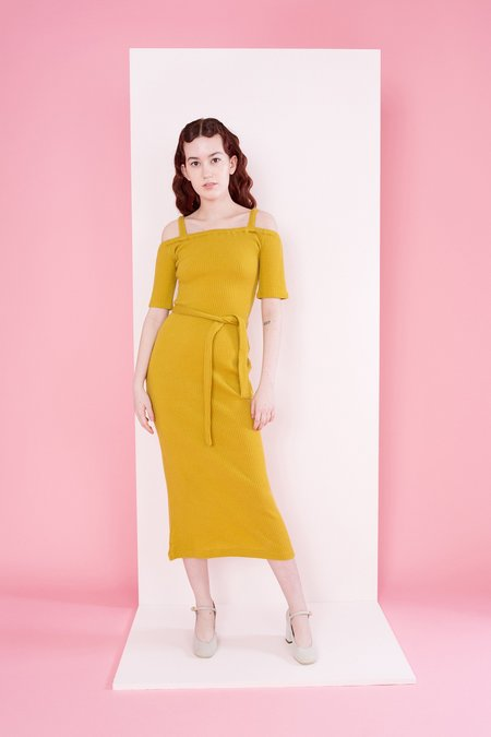 Samantha Pleet Capulet Dress - Mustard Gold