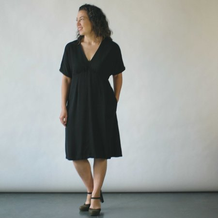 Studio 412 Draped Dress in Black