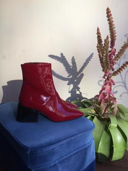 L'Intervalle Moresby Boots - Red Patent Leather