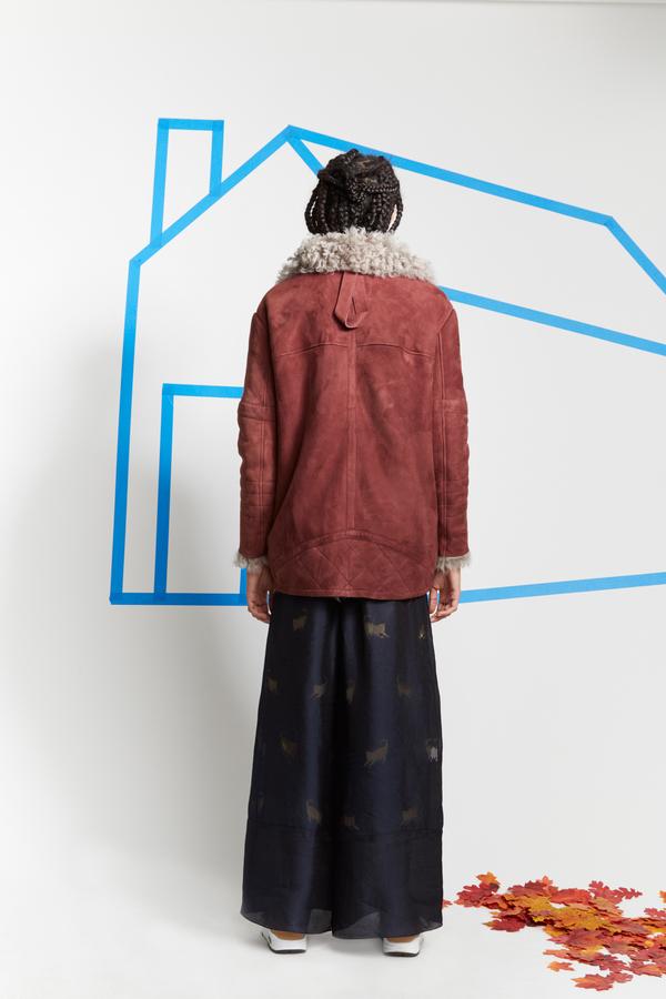 Sandy Liang Ines Shearling Coat