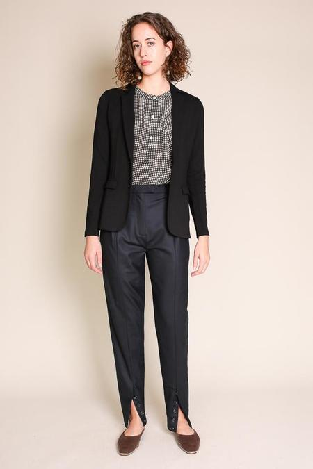 Majestic Single Button Blazer in Noir