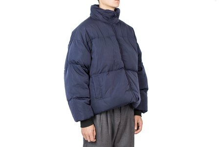 Drôle de Monsieur Patched Down Jacket - Blue