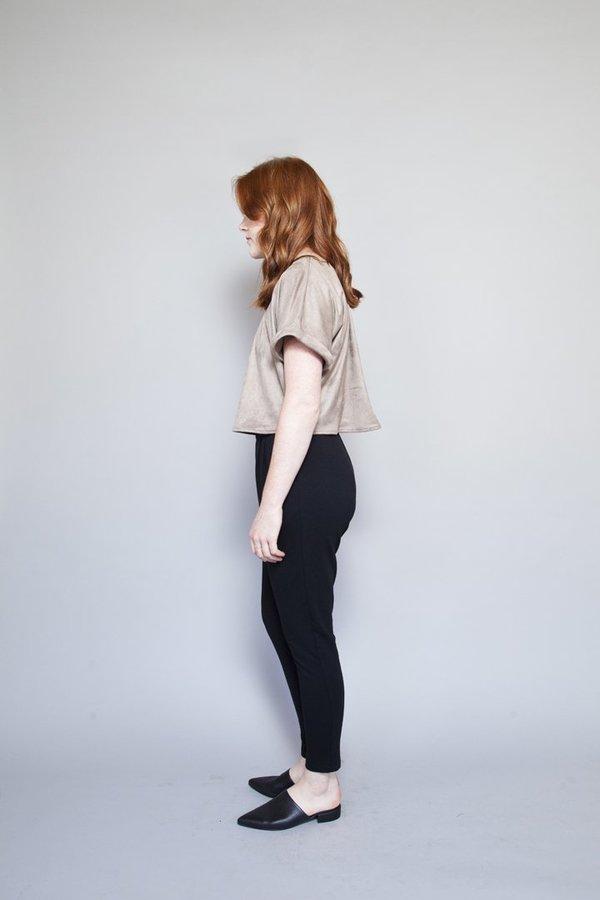 Sara Duke Your Favourite Shirt Crop - Taupe Suede