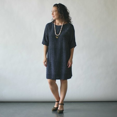 Susan Eastman Batik Dress in Dots Print