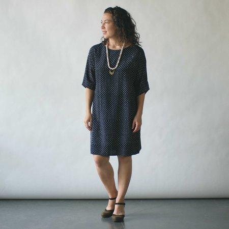 Susan Eastman Batik Dress in Dots Print