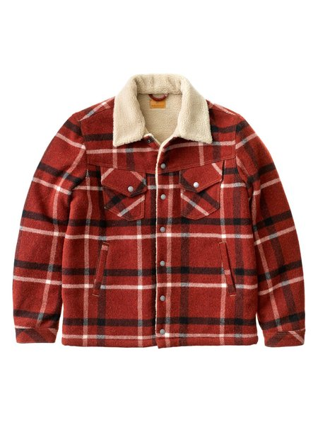 Nudie Jeans Lenny Wool Check - Ruby