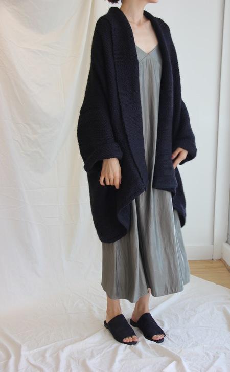 Atelier Delphine Haori Coat - Black/Navy