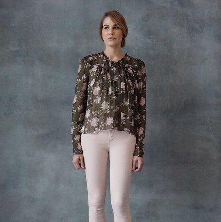 Ulla Johnson Petunia Olive Long Sleeve Blouse