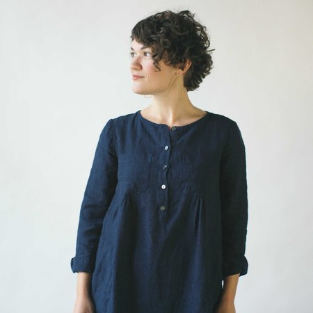 Studio 412 Field Dress in Indigo Linen