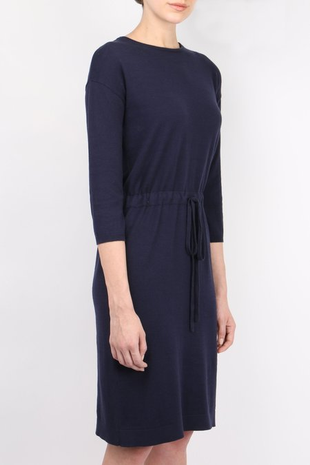Allude Drawstring Dress - Navy