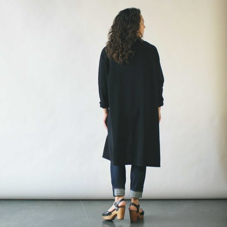 Erdaine Desiree Long Cardigan in Black