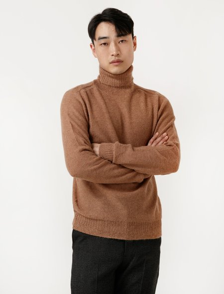 Lemaire Mens Turtleneck Knitted - Rosewood